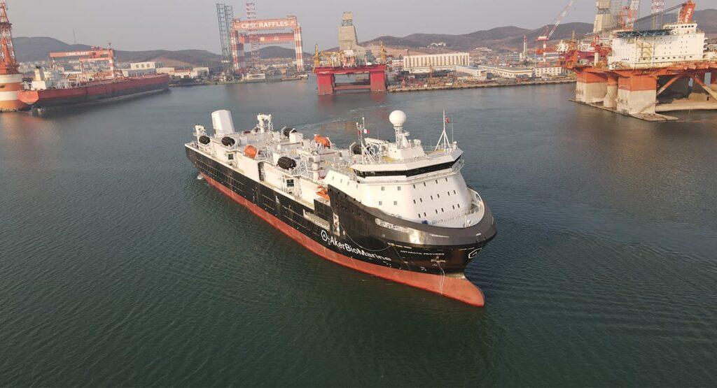 Aker Biomarines nye forsyningsskip