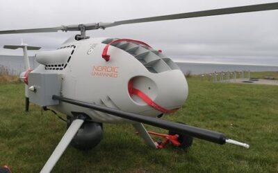 Foto av drone fra Nordiv Unmanned